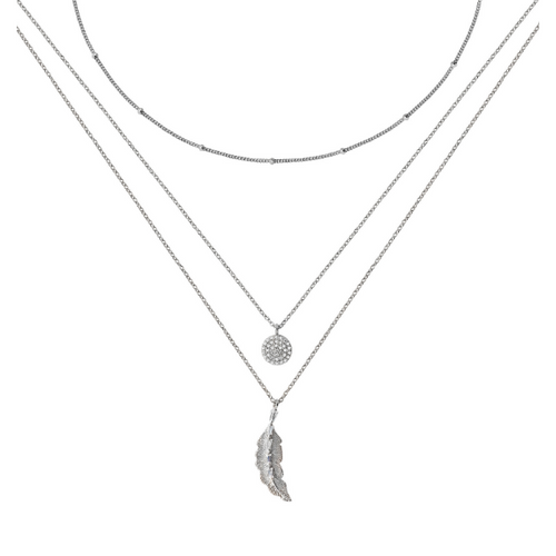 Silver Three Layer Necklace
