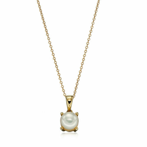 9ct Gold Pearl June Birthstone Pendant