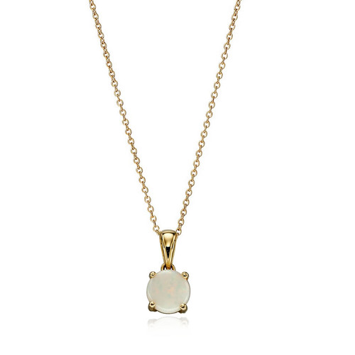 9ct Gold Opal October Birthstone Pendant