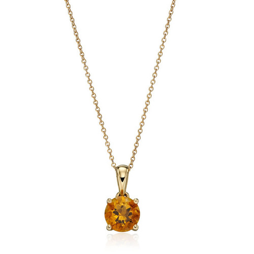 9ct Gold Citrine November Birthstone Pendant