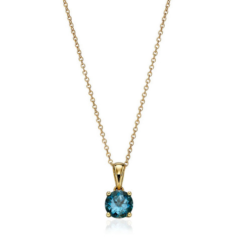 9ct Gold Topaz December Birthstone Pendant