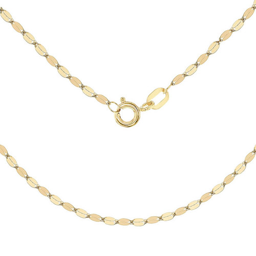 9ct Gold Sparkle Disc Chain