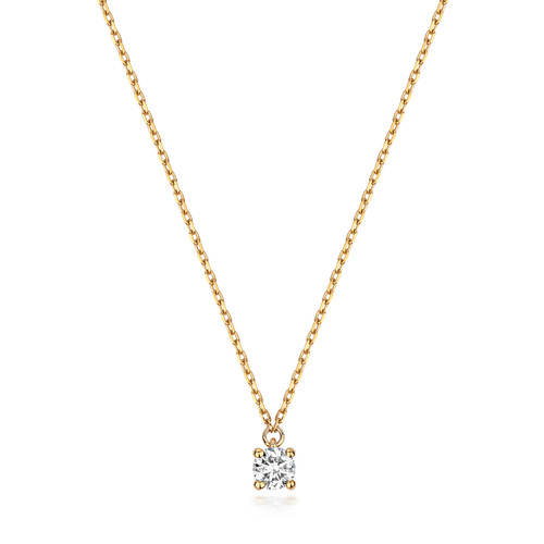0.14ct Solitaire Diamond on a 9ct Gold Chain