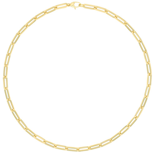 9ct Gold Paper Clip Chain Necklace