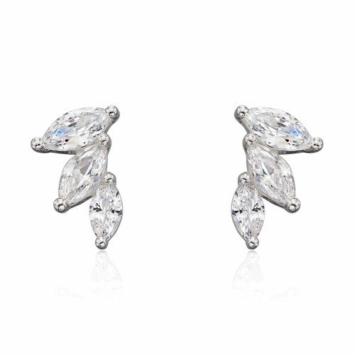 Silver Marquise Cubic Zirconia Earrings