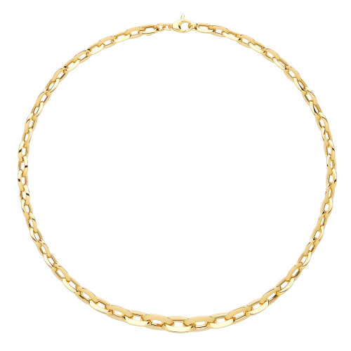 9ct Gold Graduated Oval Link Chain