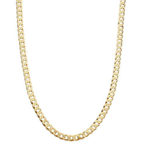 Men's 9ct Gold Flat Bevelled Curb Chain