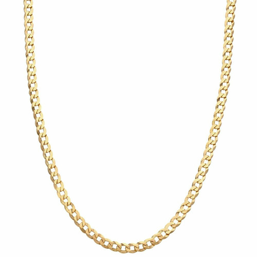 """Men's 9ct Gold Flat Bevelled Curb Chain 24"""""""