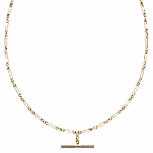 9ct Gold T-Bar Chain Necklace