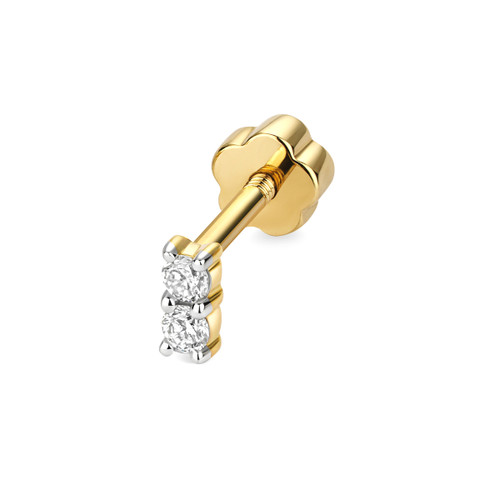 9ct Gold 0.05ct Diamond Cartilage Stud Earring