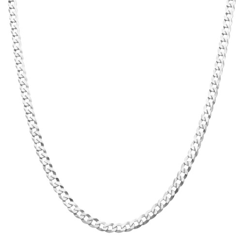Men's Solid Silver Curb Chain 5mm