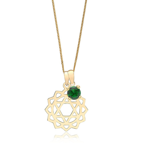 9ct Gold Heart Chakra Necklace