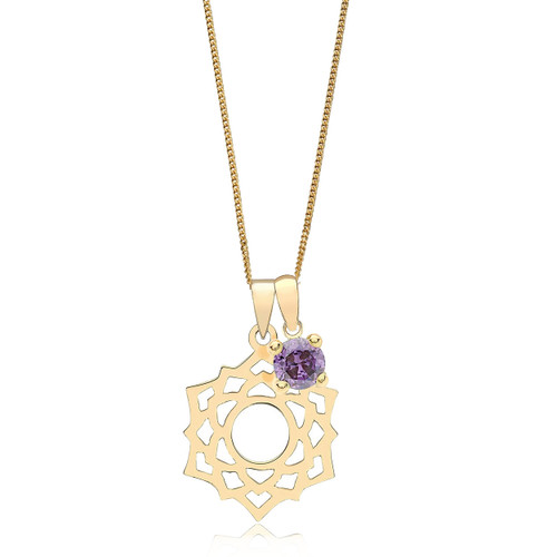 9ct Gold Crown Chakra Necklace