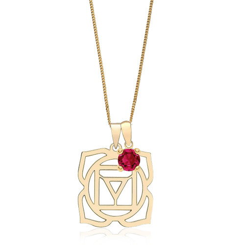 9ct Gold Root Chakra Necklace