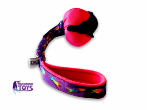 TouchanTreat Balls on Patterned Bungee Handle