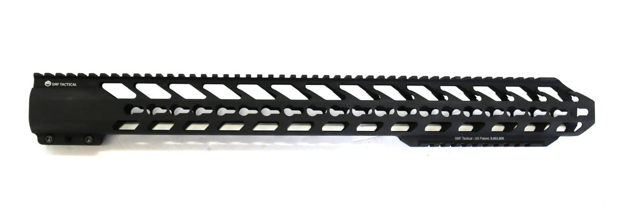 "20"" Extra Bottom Rail,  Hard Black Anodized Hand Guard - KeyMod"