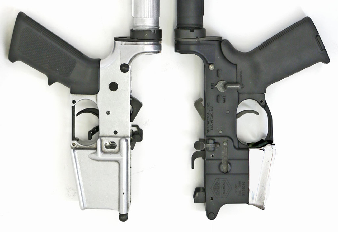 9mm Colt 80% Lower Receiver and Flared Mag Well with and without