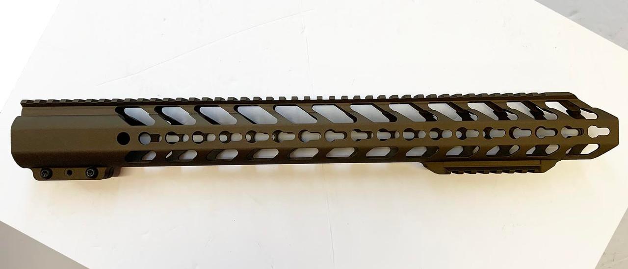 ".308 Hand Guard 18"" Extra Bottom Rail KeyMod - Burnt Bronze (HGKS3-18XBR-BB)"