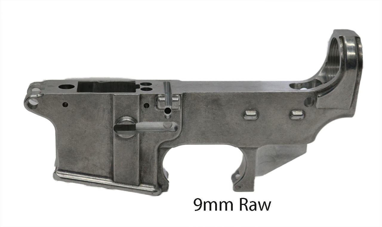 9MM 80% Lower Receiver, Raw
