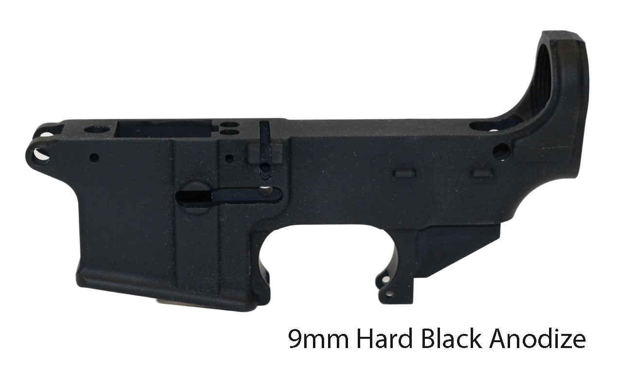 9MM 80% Lower Receiver, Hard Black Anodize