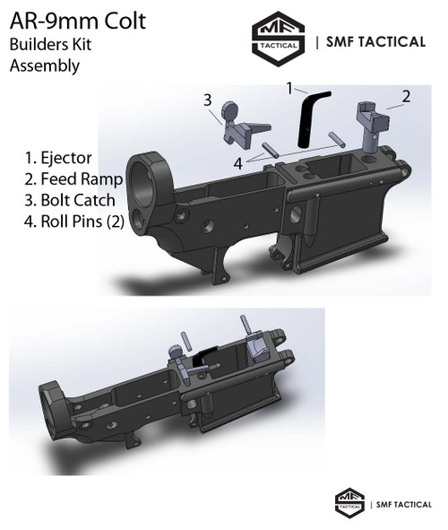 9MM Upper Receiver Pistol Assembly, Complete Upper, 9MM Upper