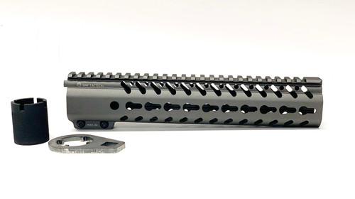 "10.5"" Hand Guard - KeyMod, AR-15 in Titanium Gray"