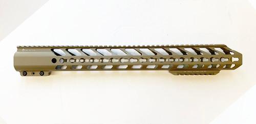 ".308 Hand Guard 18"" Extra Bottom Rail KeyMod - FDE"