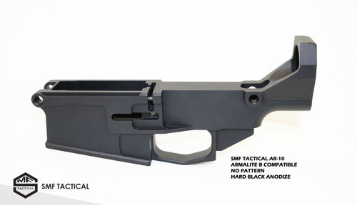 SMF TACTICAL AR-10  ARMALITE B COMPATIBLE NO PATTERN HARD BLACK ANODIZE