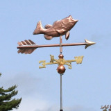Sunday in Maine and a Bass Weathervane
