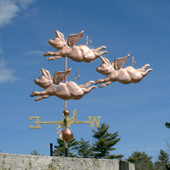 Three Big Flying Pigs Weathervane