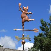 party pig weathervane