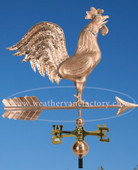 Crowing Rooster Weathervane side view image