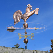 Rooster Weathervane holding a Beer