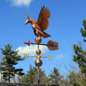 Eagle Weathervane left front side view on blue sky background
