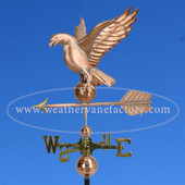 Eagle Weathervane left side view on blue sky background