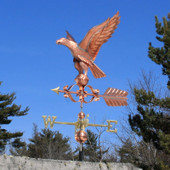 Georgian Eagle Weathervane left side view on blue sky background