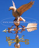 Victorian Eagle Weathervane left side view on blue sky background