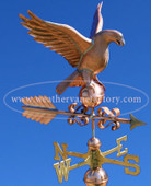 Eagle Weathervane right side on blue sky background