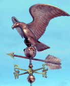 Large Eagle Weathervane front View on blue sky background