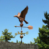eagle weathervane side view image