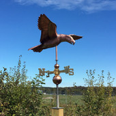 Soaring Eagle Weathervane right side view on blue sky background