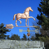 Appaloosa Horse Weathervane right side view on blue sky background