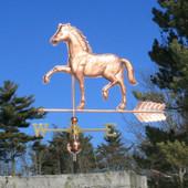 Appaloosa Horse Weathervane left side view on blue sky background
