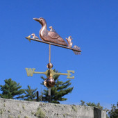 Loon and Chicks Weathervane Angle View image