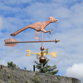 roadrunner weathervane side view on cloudy background image