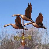 medium side three flying geese weathervane side view image