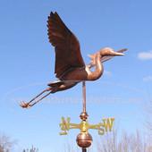 Large Heron Weathervane on blue sky background image