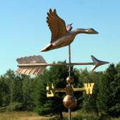flying goose weathervane image