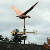Large Flying Duck Weathervane rear view on cloudy background