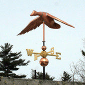 Flying Duck Weathervane with Wings Set to Land